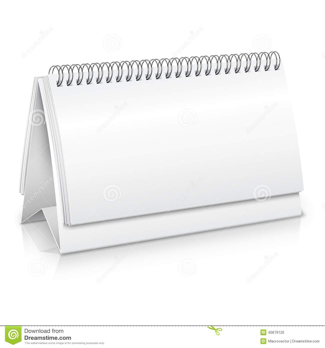 Blank Vector Calendar Template : Desk calendar mockup stock vector illustration of