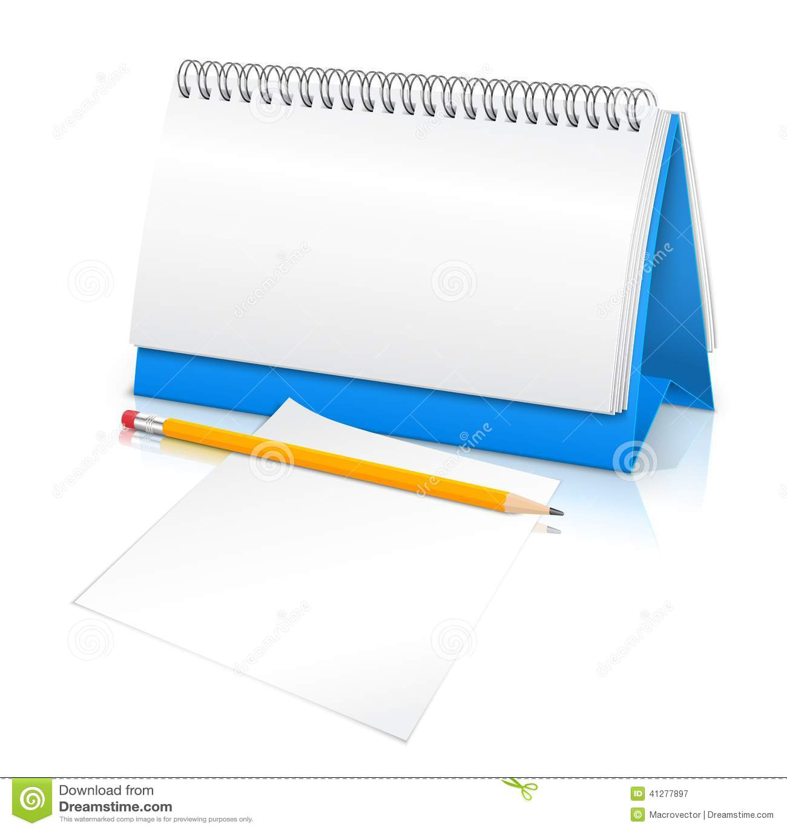 Event Calendar Illustration : Desk calendar mockup stock vector illustration of event