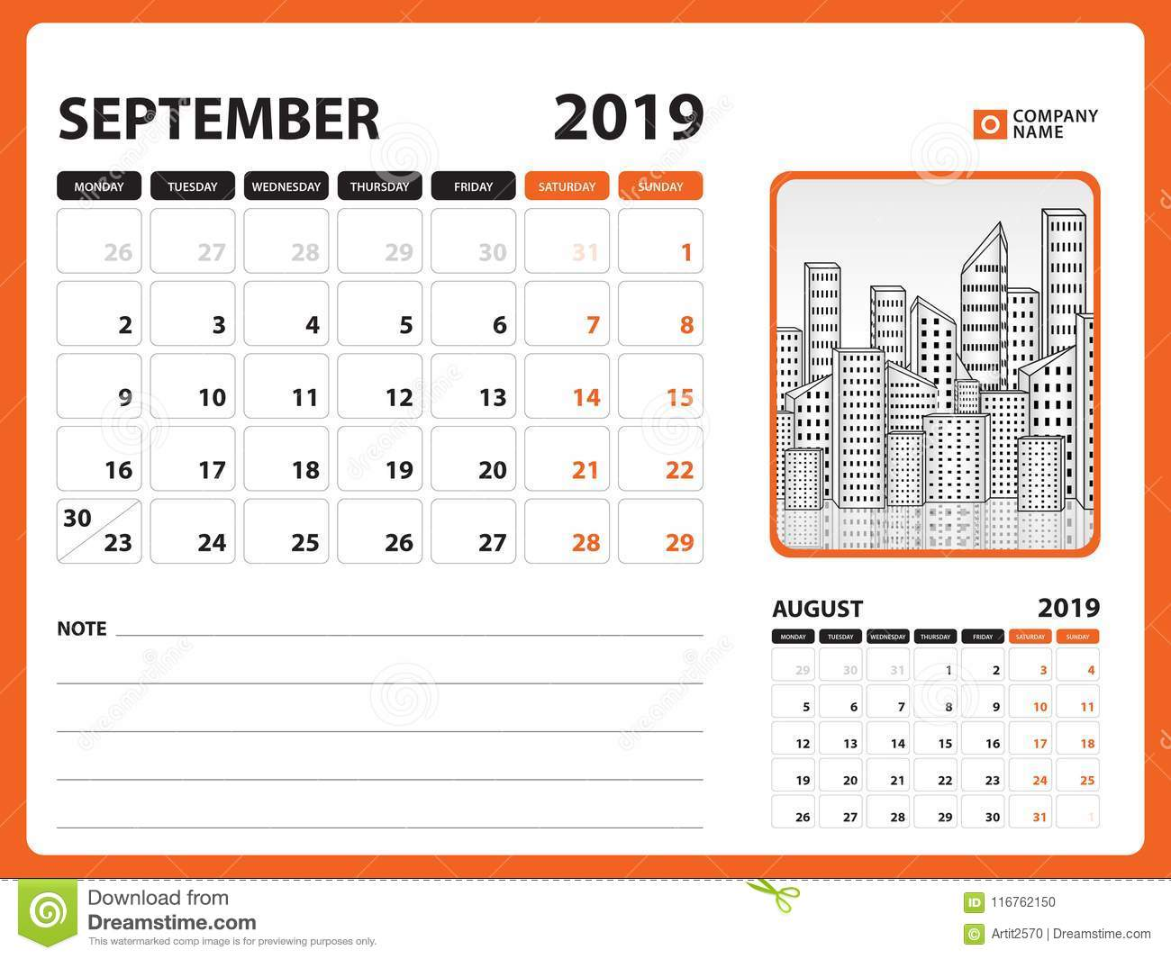 desk calendar for september 2019 template printable calendar