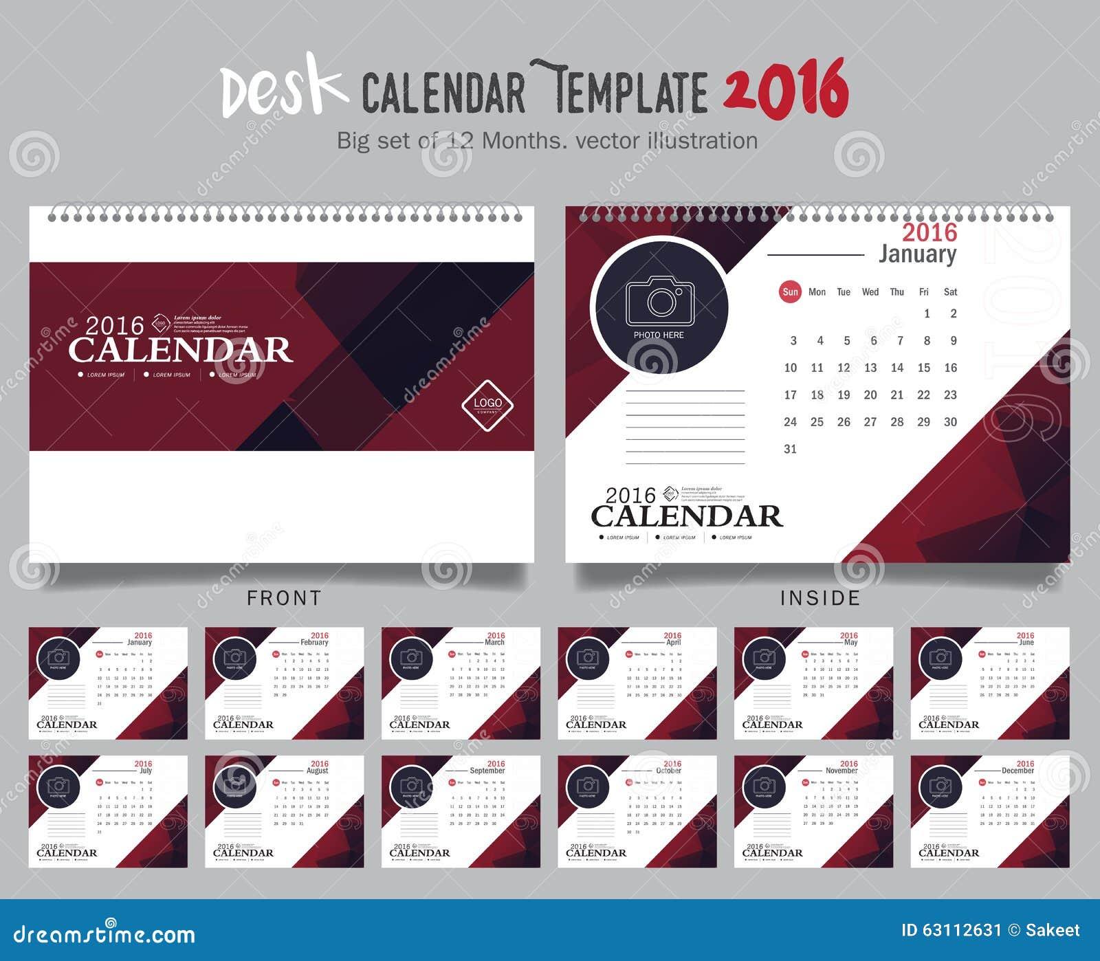 Table Calendar Design Samples : Desk calendar vector design template big set of