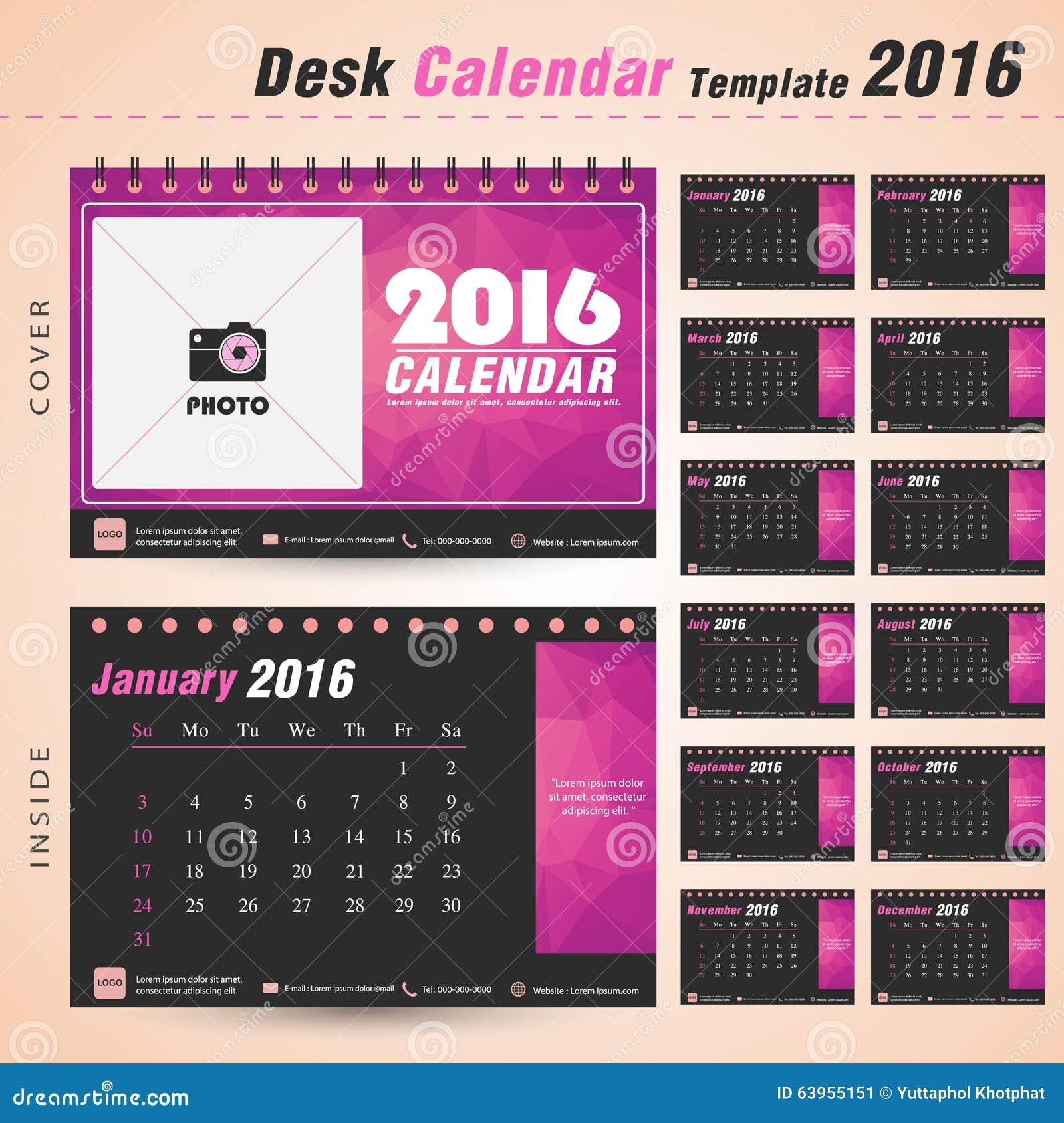 Holiday Calendar Design : Desk calendar vector design template triangle