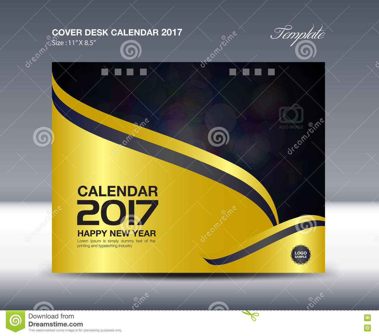 Desk Calendar For 2017 Year, Cover Desk Calendar Template,  Calendar Sample Design