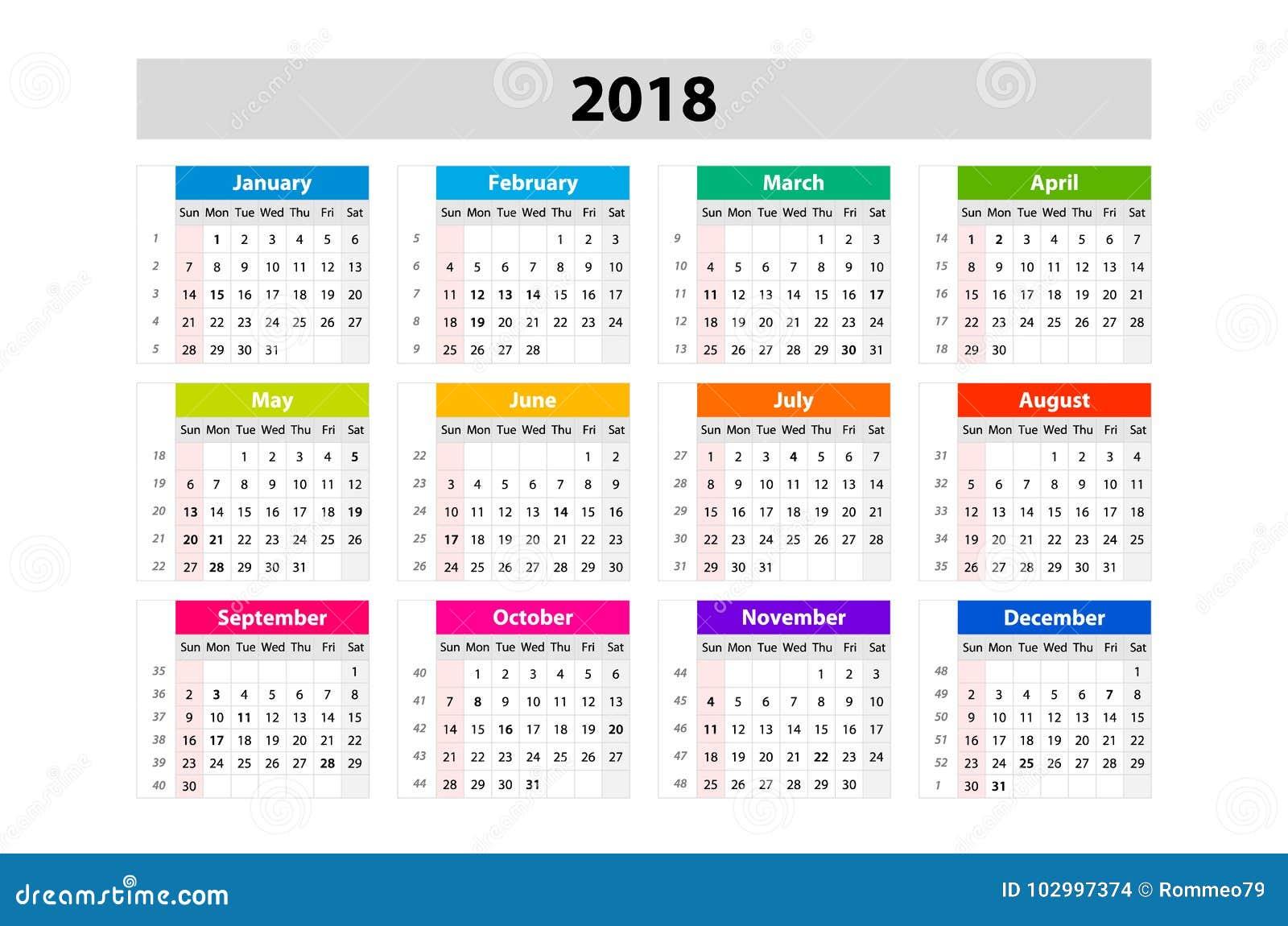 Calendar Number Design : Desk calendar for year vector design print template