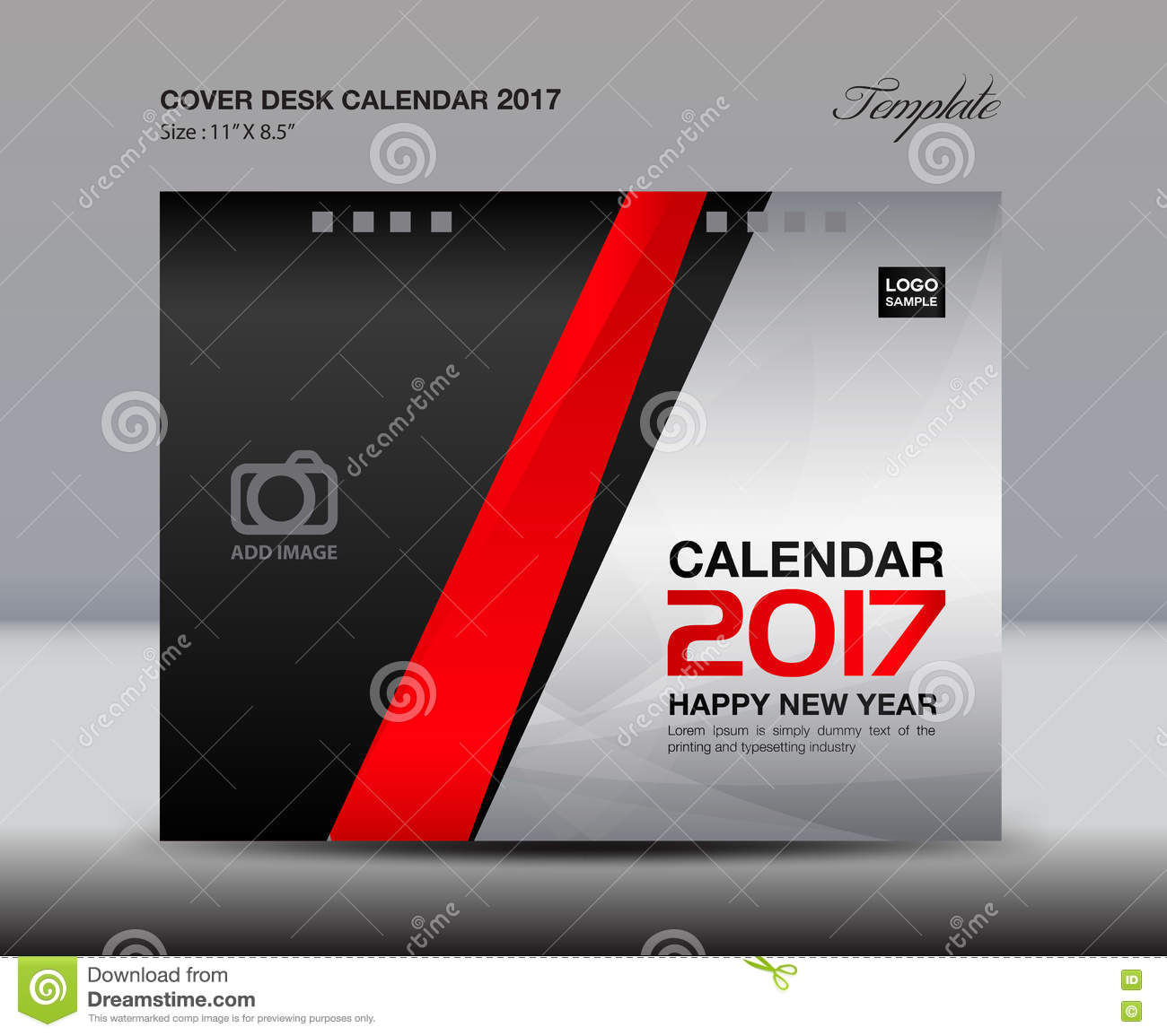 Cover Calendar Design Vector : Desk calendar for year white cover