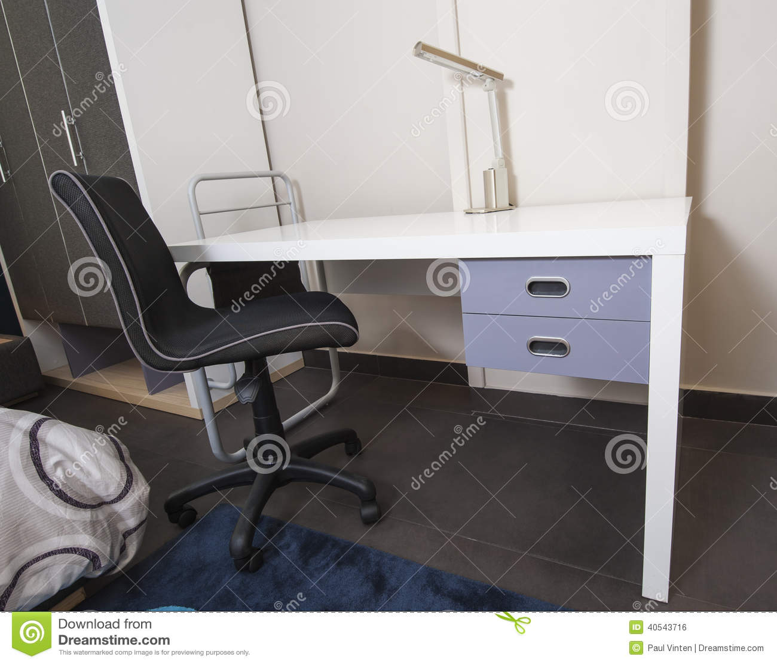 Desk In Childrens Bedroom Area Stock Photo Image 40543716