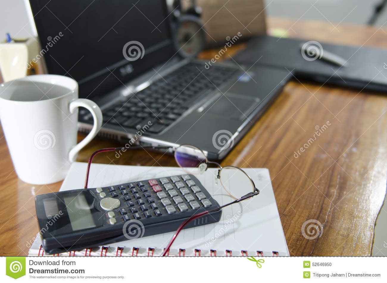 Desk top in home office stock photo image 52646950 for Best home office tools