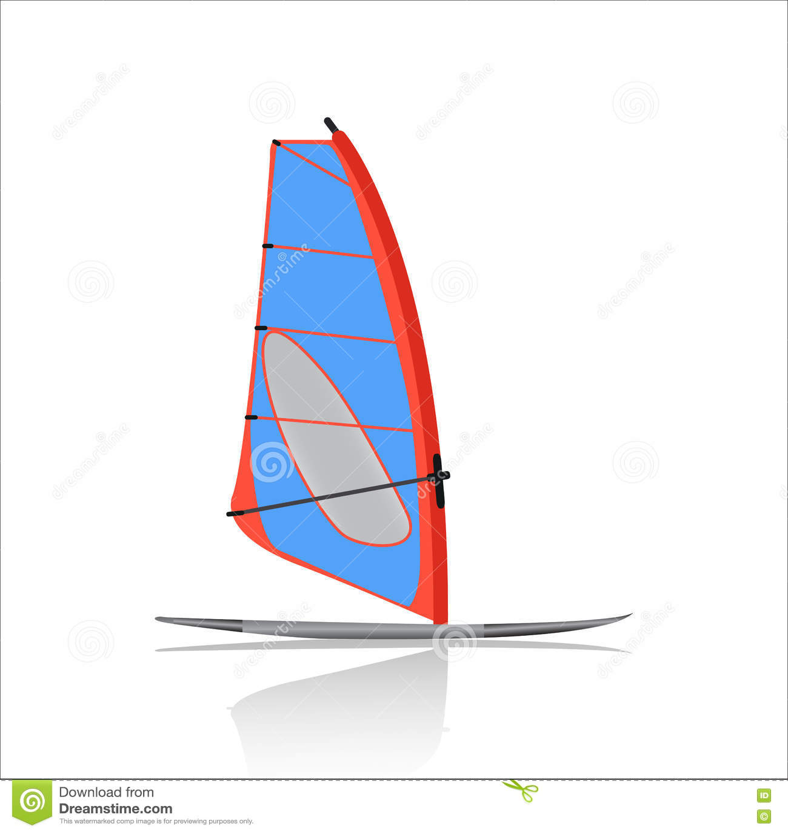 Deskowa Windsurfing ikona, Wodny sport i rozrywka,
