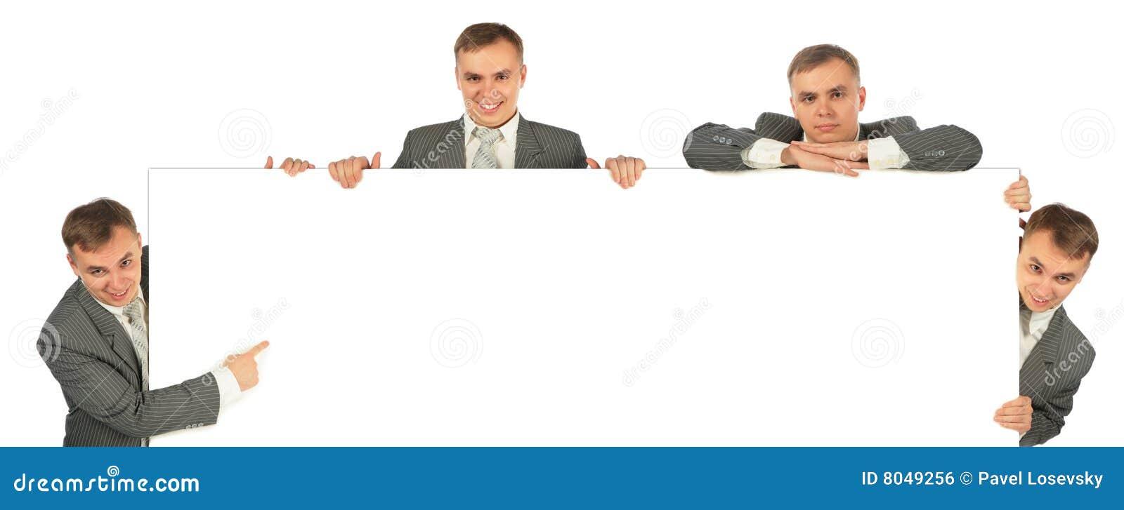 Deskowi biznesmeni cztery przedstawienie
