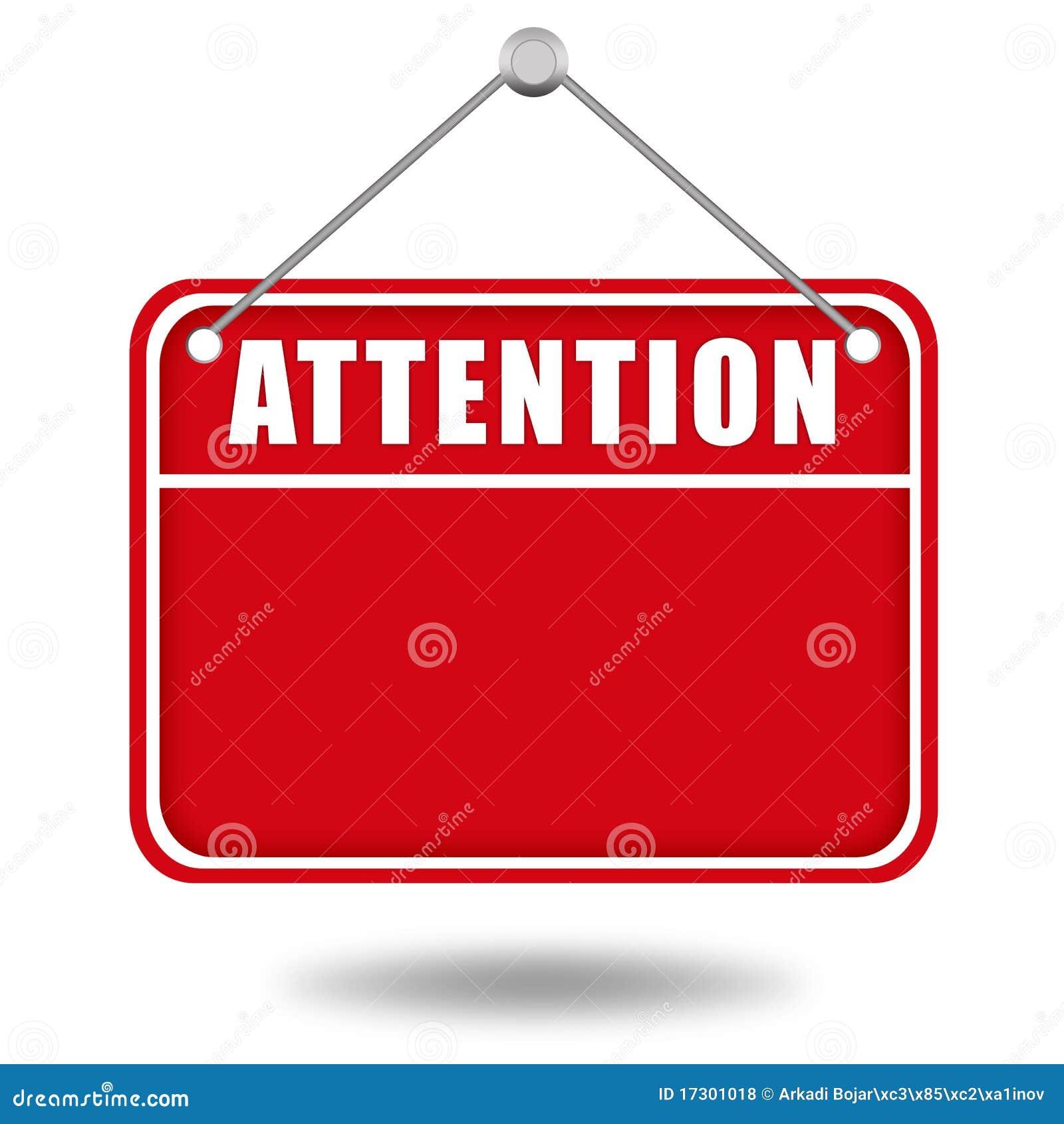 Deskowy uwagi ostrzeżenie