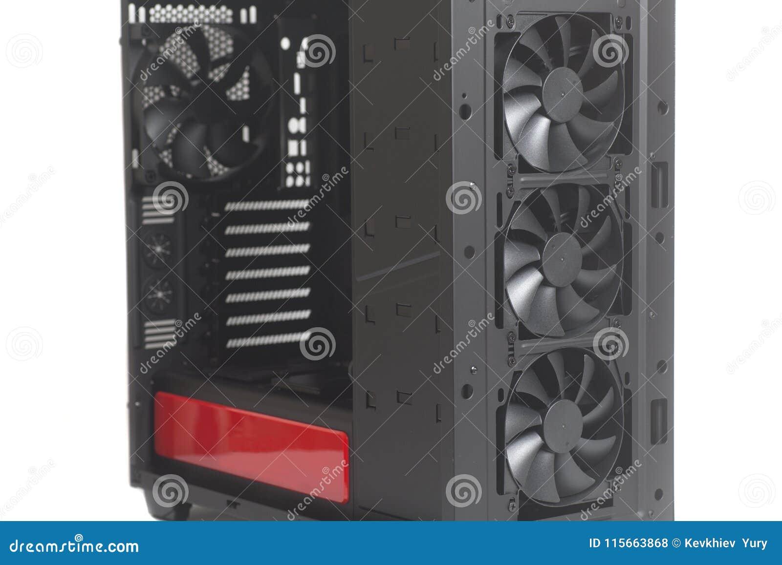 Desktop κενό PC υπόθεσης υπολογιστών με τον ανεμιστήρα δοχείων ψύξης
