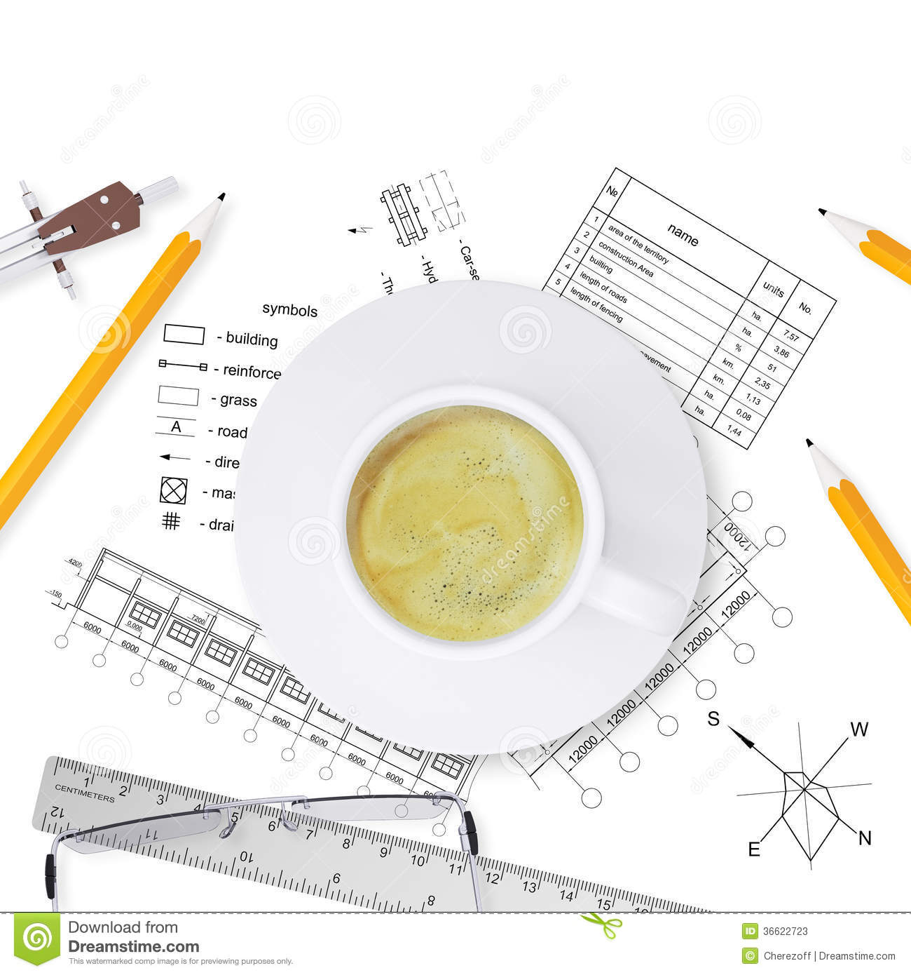 Desktop Architect Stock Photos Image 36622723