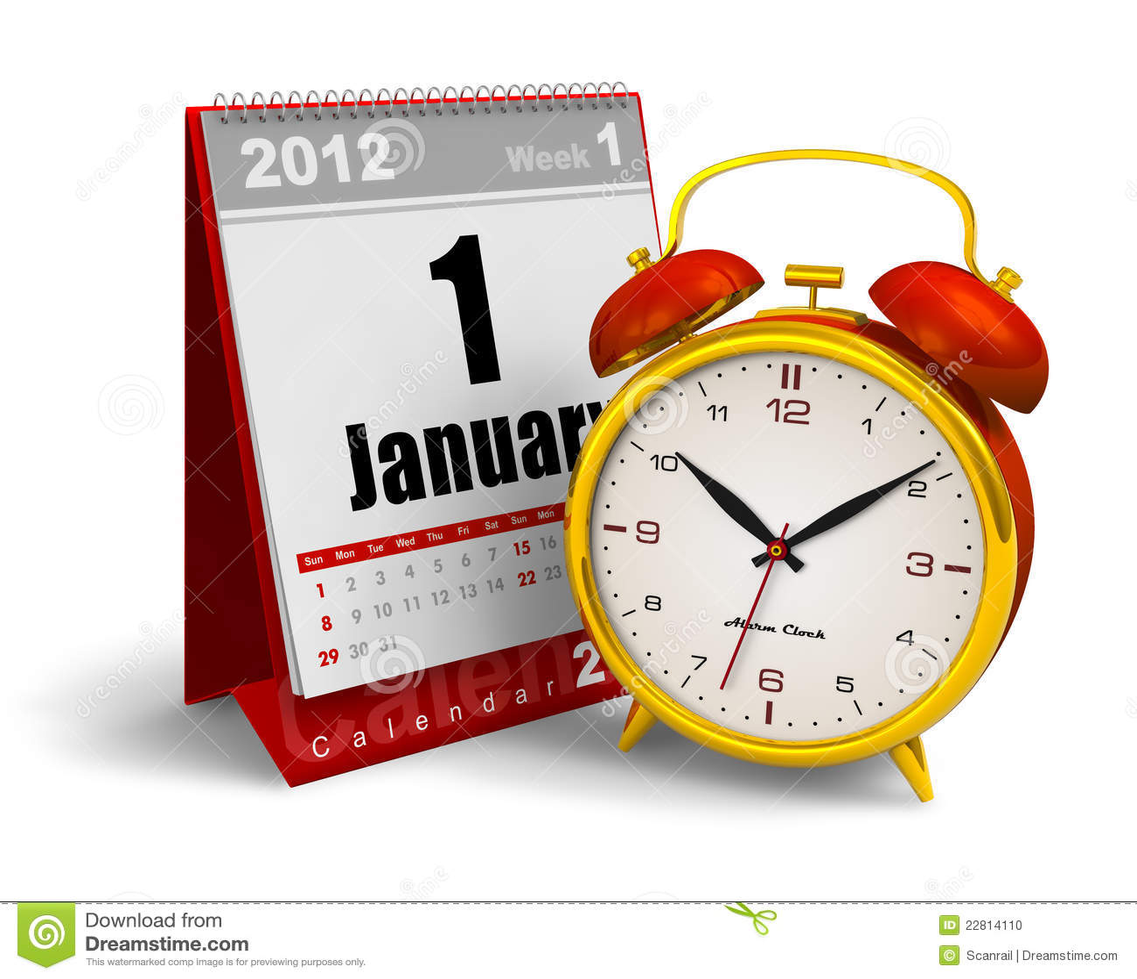 Calendar Clock Wallpaper For Desktop : Desktop calendar and alarm clock stock photo image