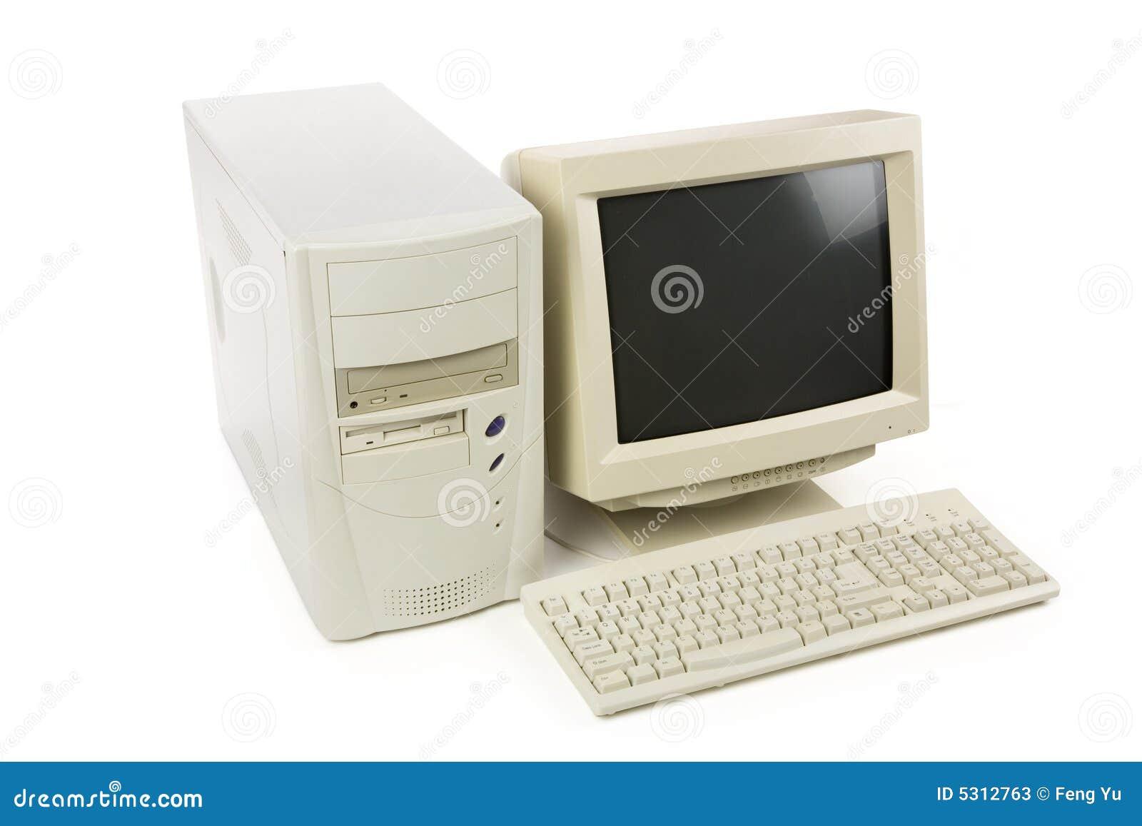 Download Desktop computer immagine stock. Immagine di tavolo, schermo - 5312763