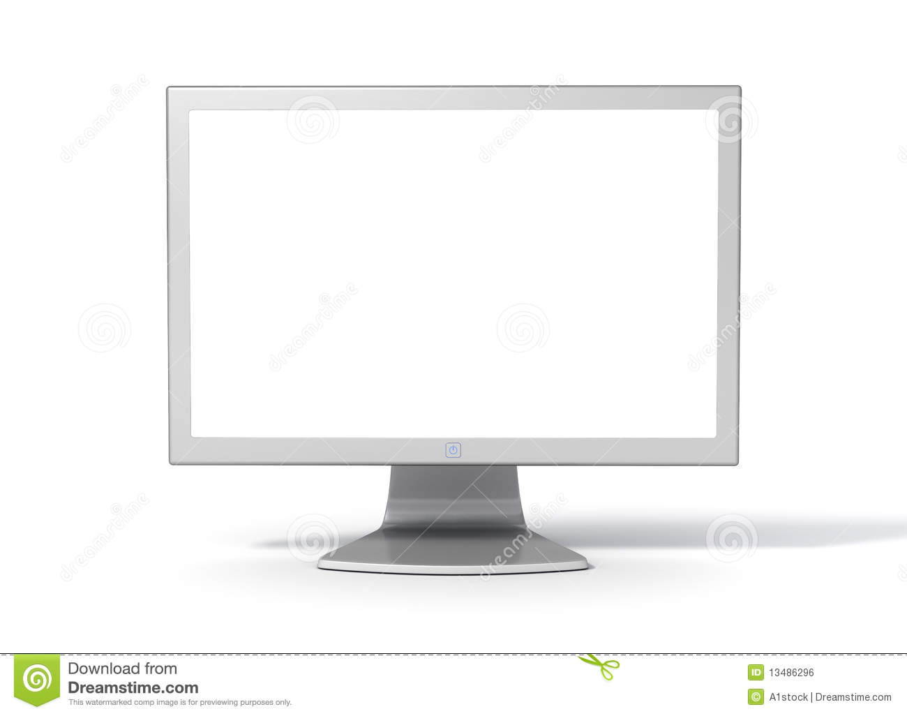 blank frame and monitor front stock illustration illustration of