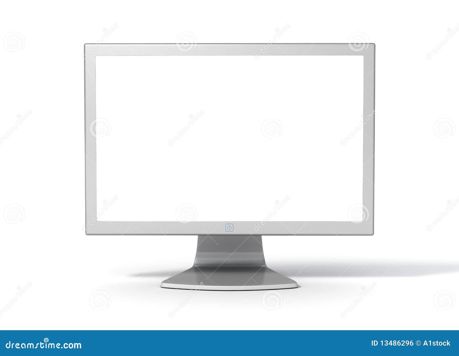 Royalty Free Stock Image  Desktop Computer Monitor - FrontDesktop Computer Monitor