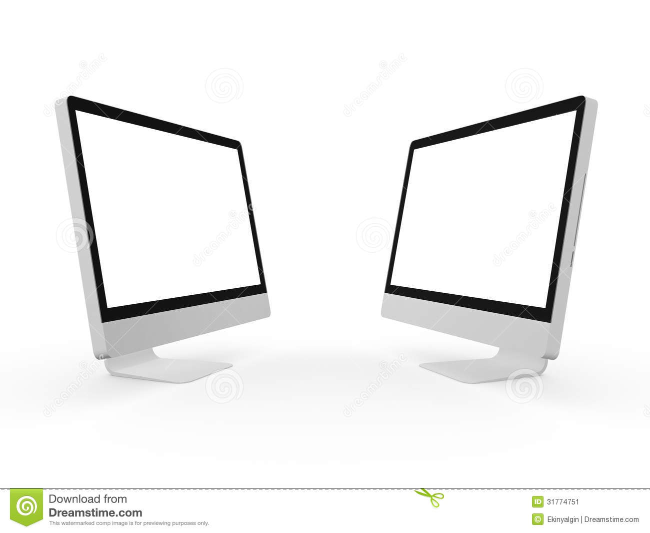 how to connect two computer screens
