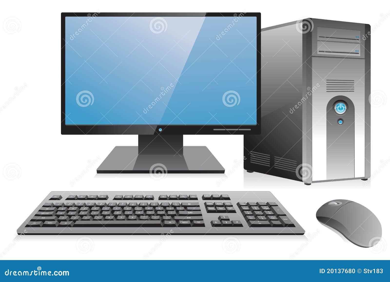 Desktop Computer Workstation Stock Photo Image 20137680