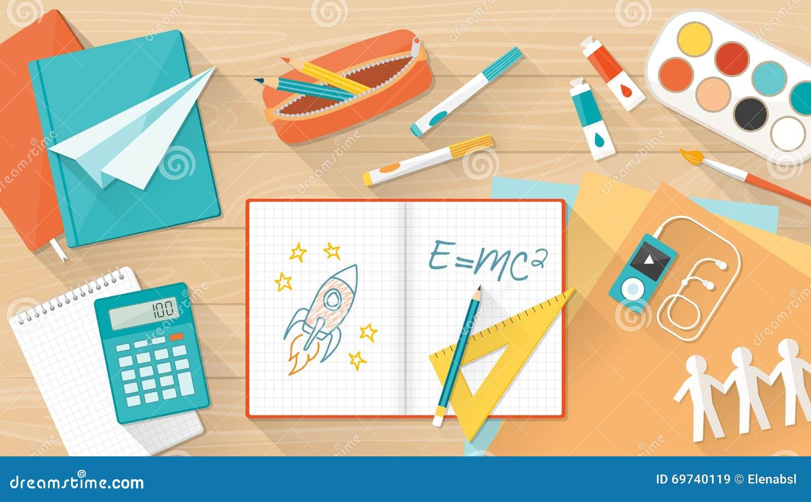 Desktop criativo da criança