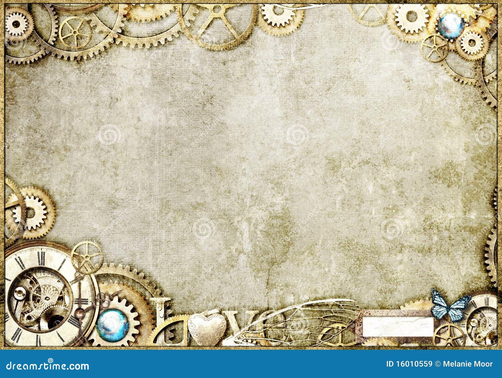 Desktop do ouro de Steampunk