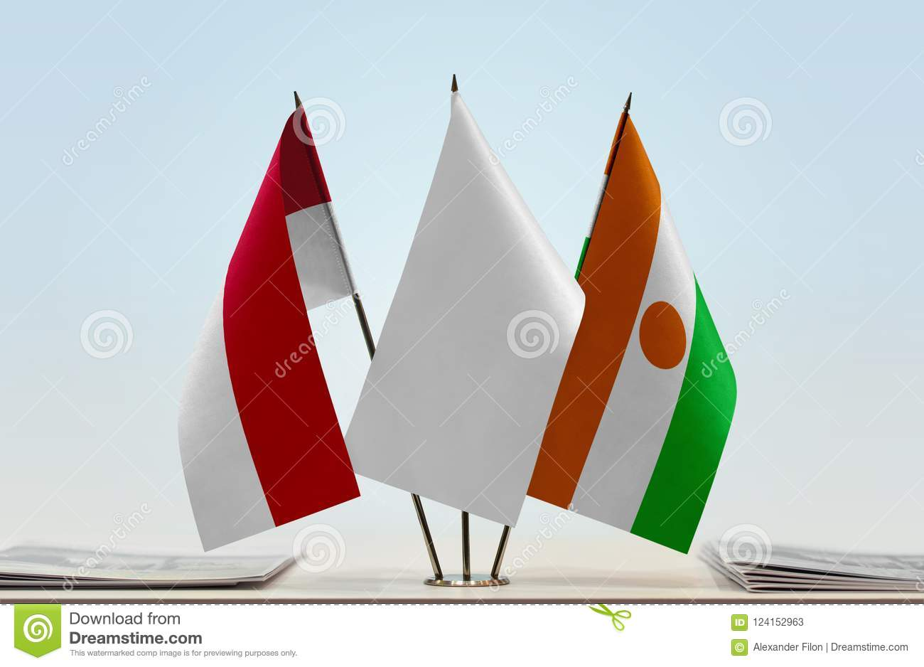 Flags of Monaco and Niger