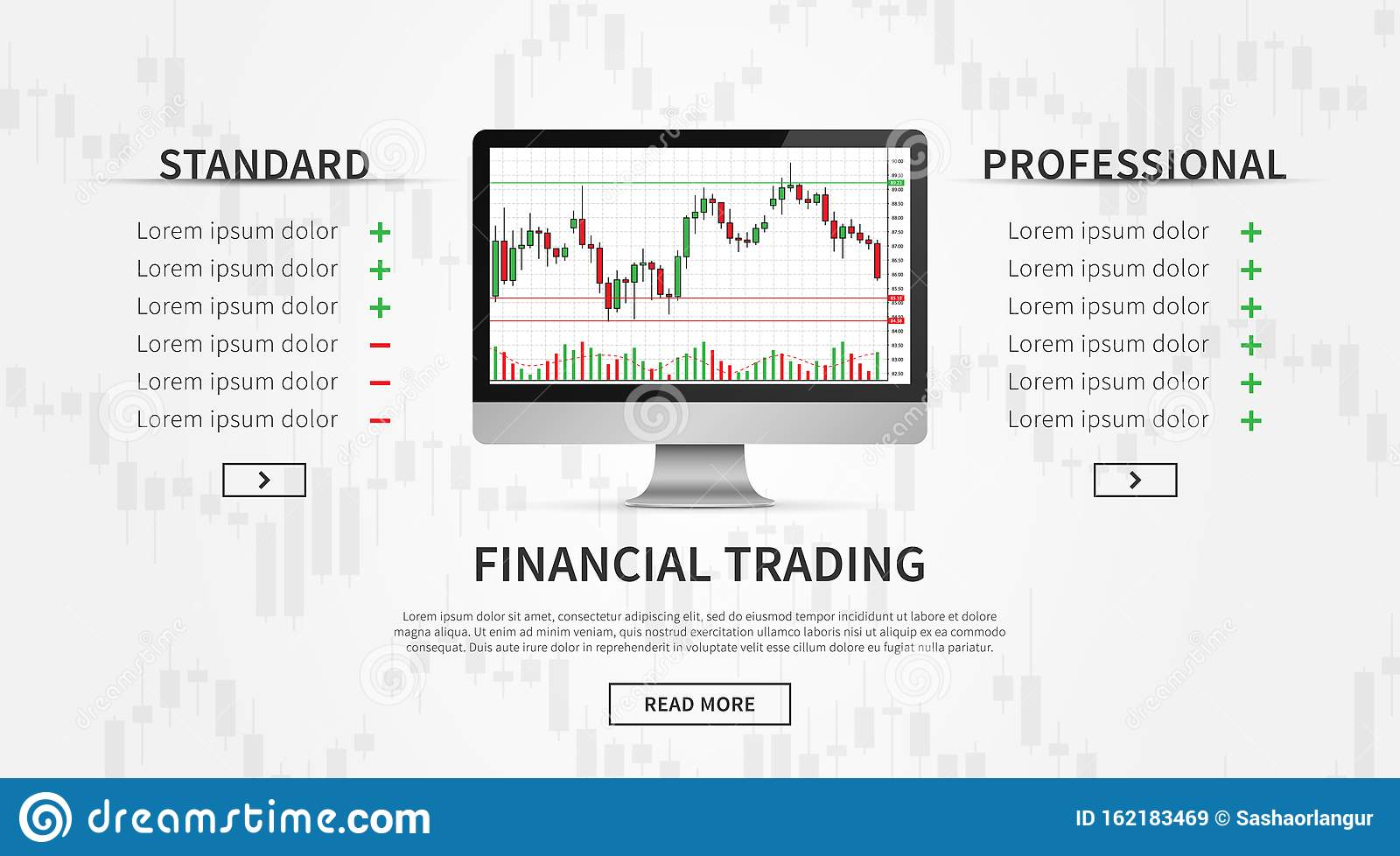 Desktop With Forex Trade Chart Vector Illustration Stock ...
