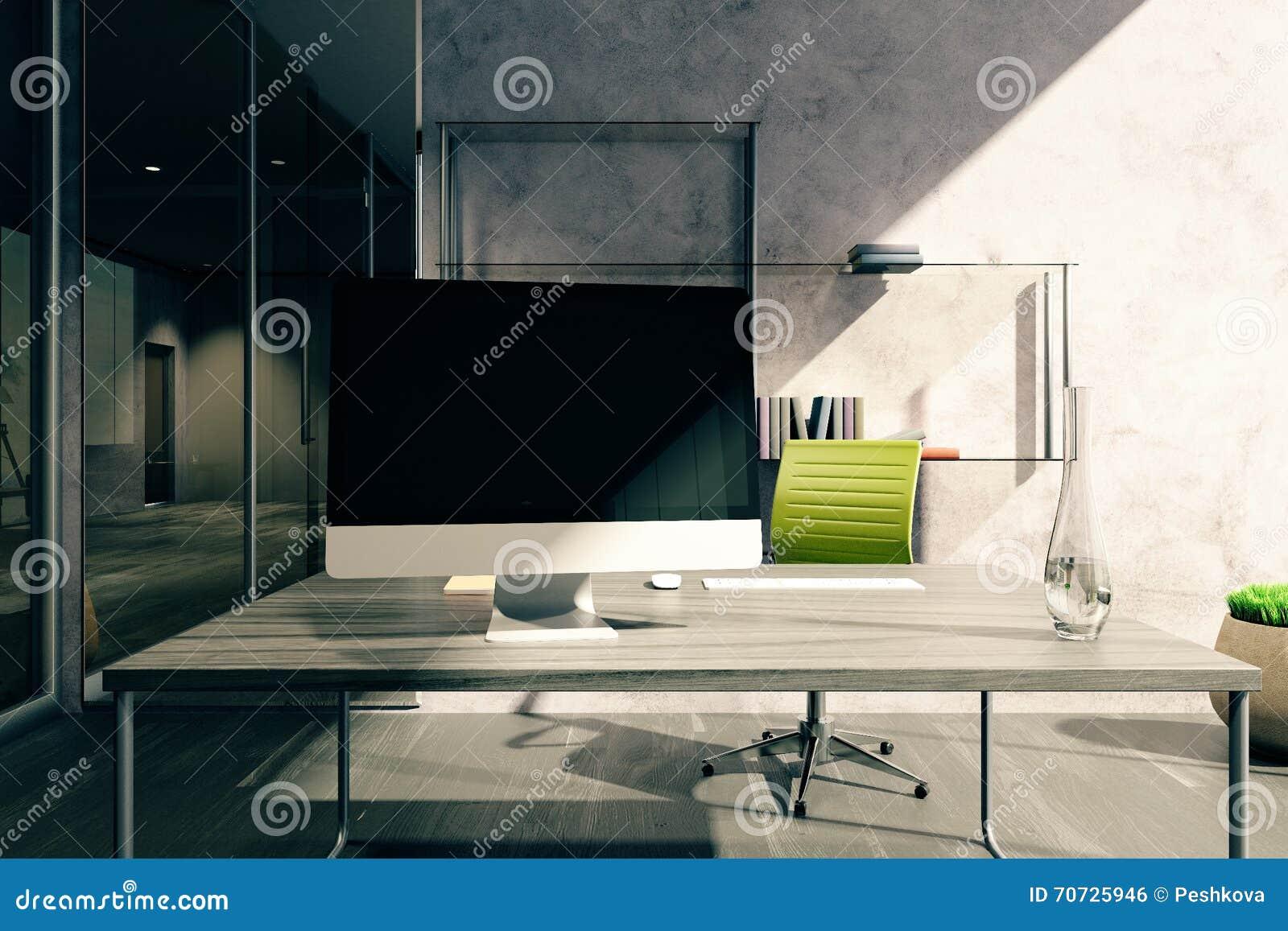 Desktop Im Buro Stock Abbildung Illustration Von Hintergrund 70725946