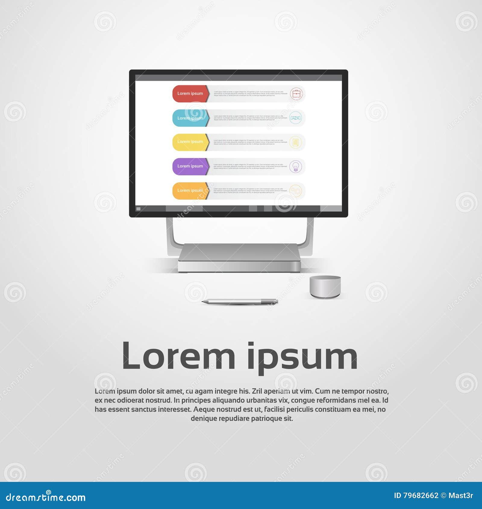 desktop logo modern computer workstation icon monitor financial
