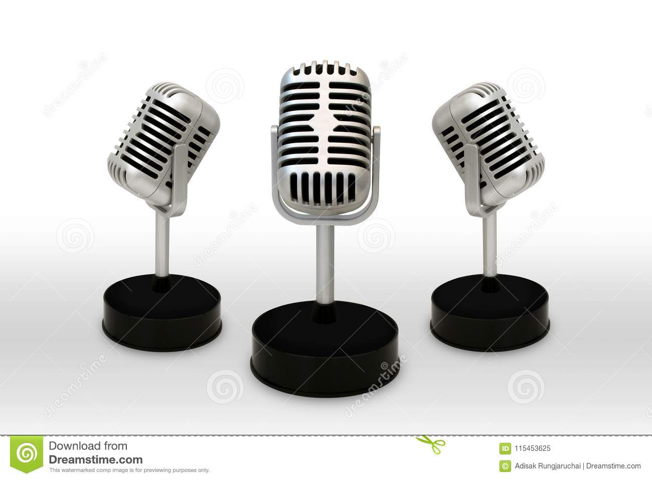 Desktop Microphone Separated From A White Background