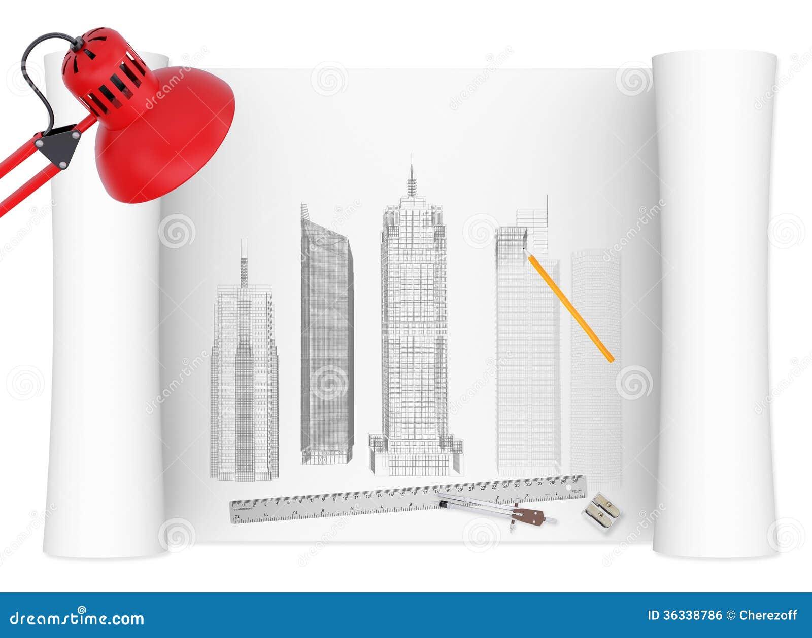 Desktop van architect