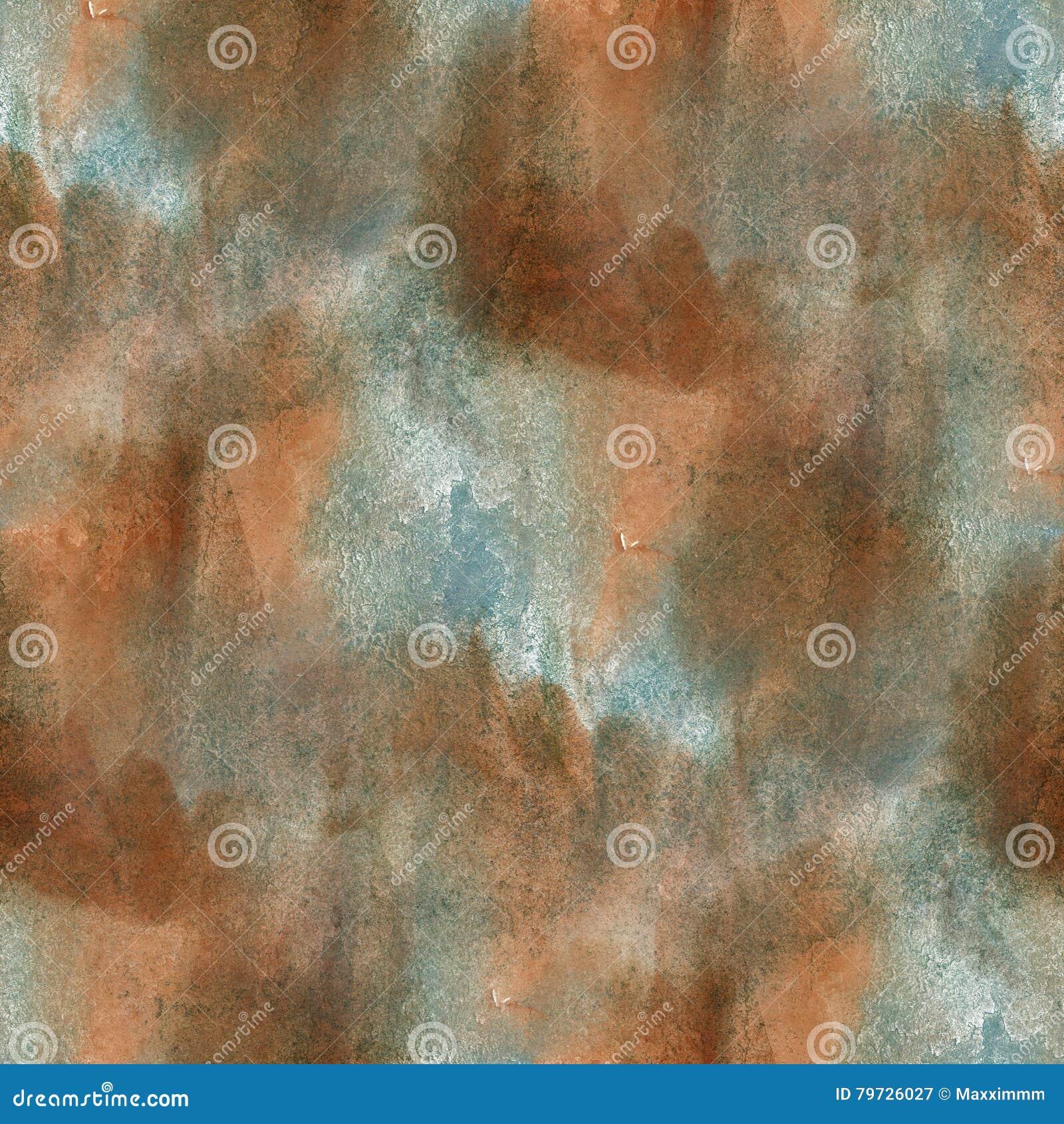 Deslúmbrese de textura inconsútil de la acuarela de la pintura con los puntos azules marrones y raya arte