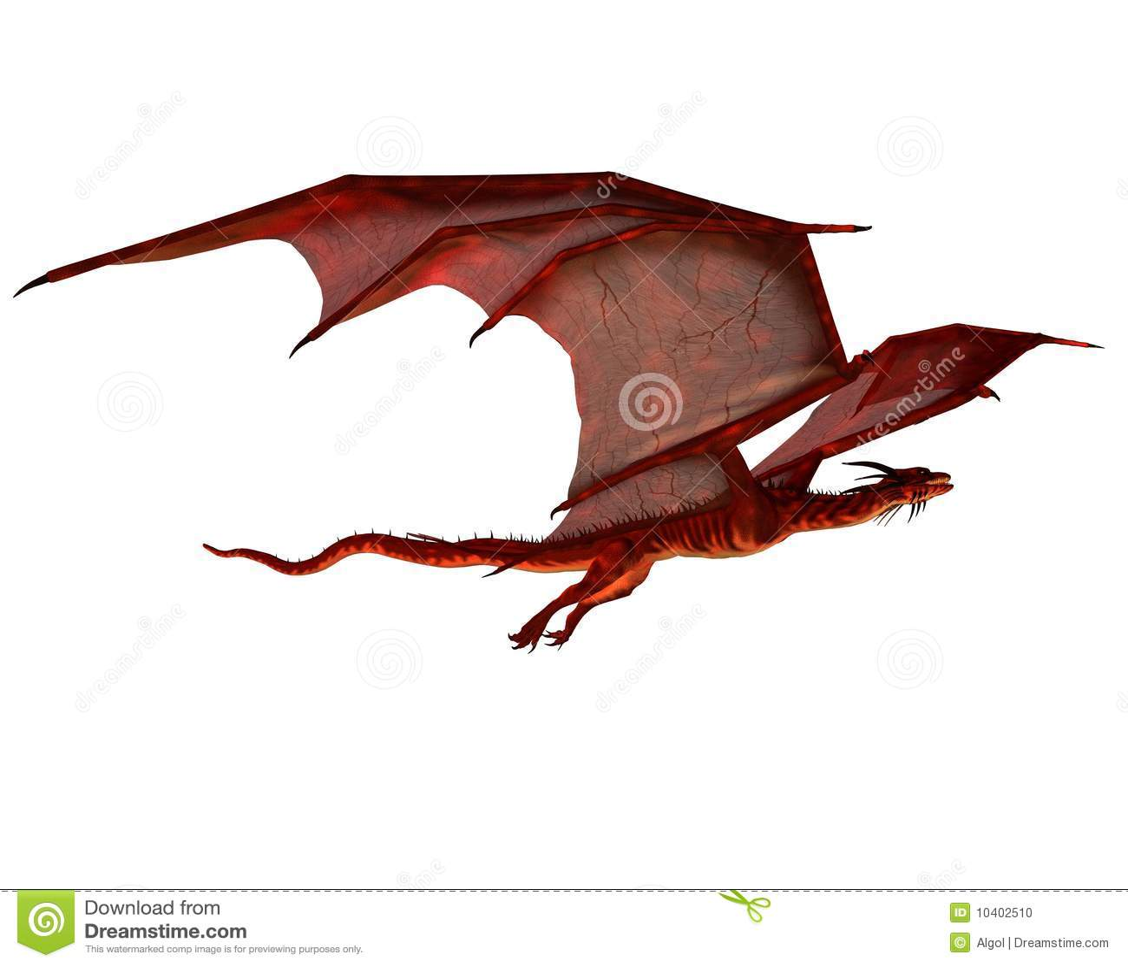 Deslizamiento rojo del dragón