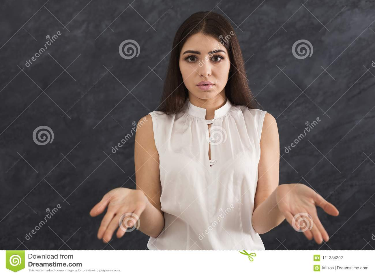 Desparate Woman Making Helpless Gesture With Her Hands Stock Photo Image Of Ambiguous Actor 111334202 Eezee conceptz global presents new signee, gift ugochukwu christopher popularly known as minister guc in the official video for desperate. dreamstime com