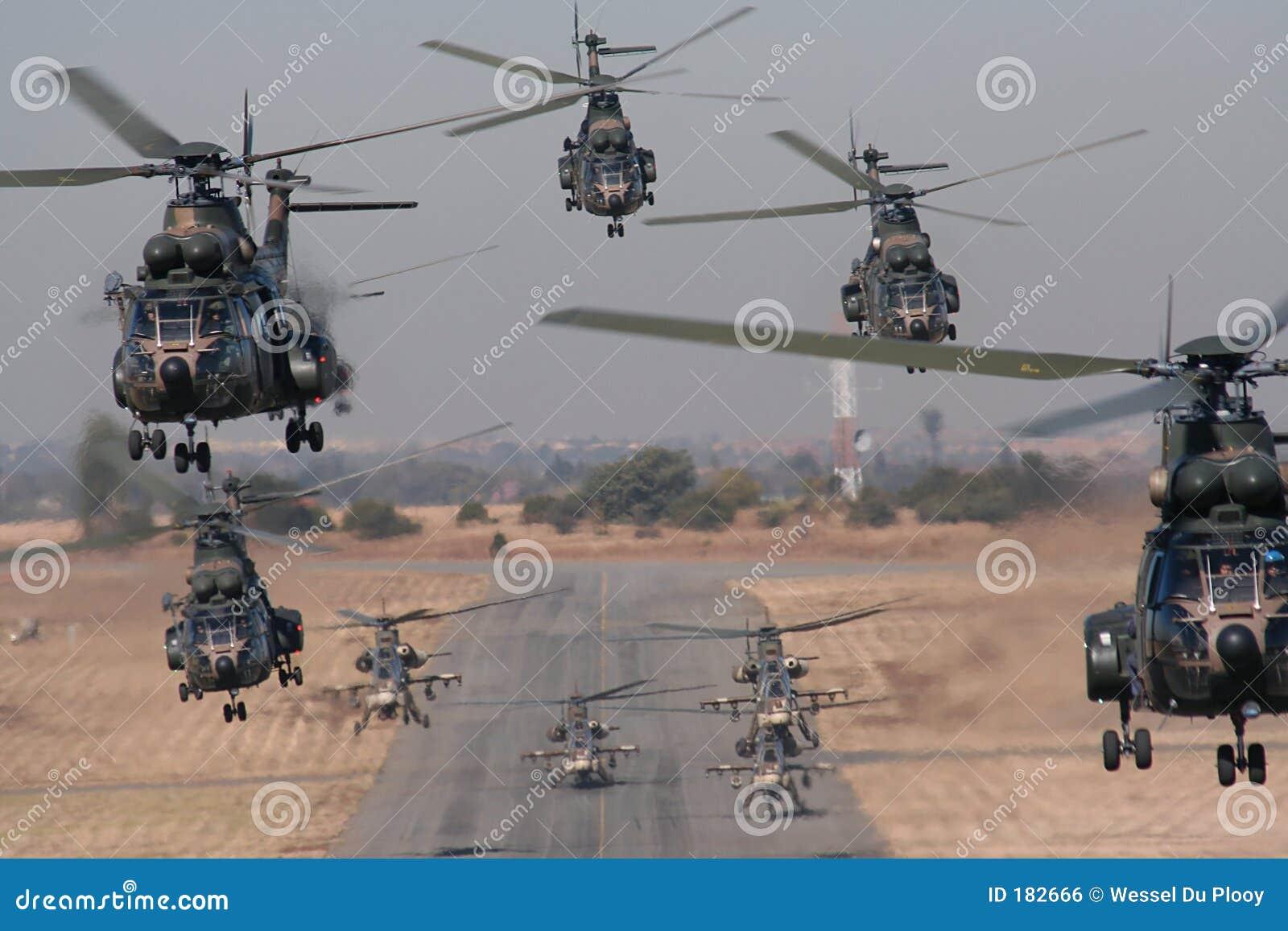 Despegue del formo del helicóptero