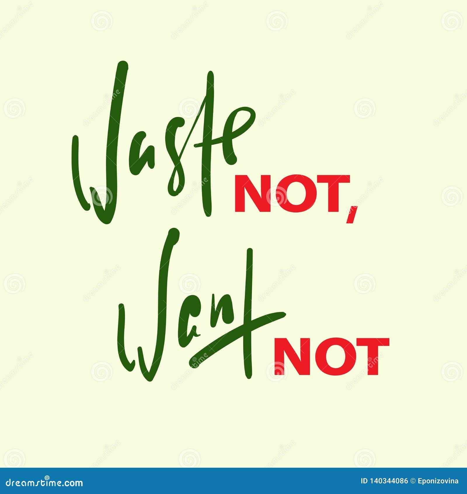 Desperdice não, queira não - inspirar citações inspiradores Rotulação bonita tirada mão