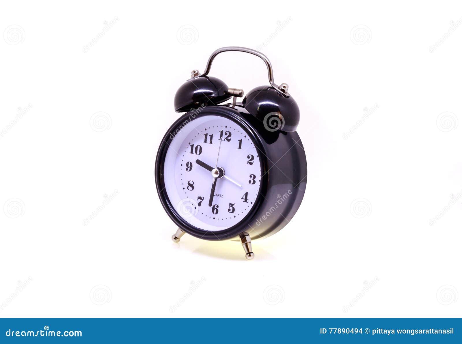 Despertador Negro Aislado Foto de archivo