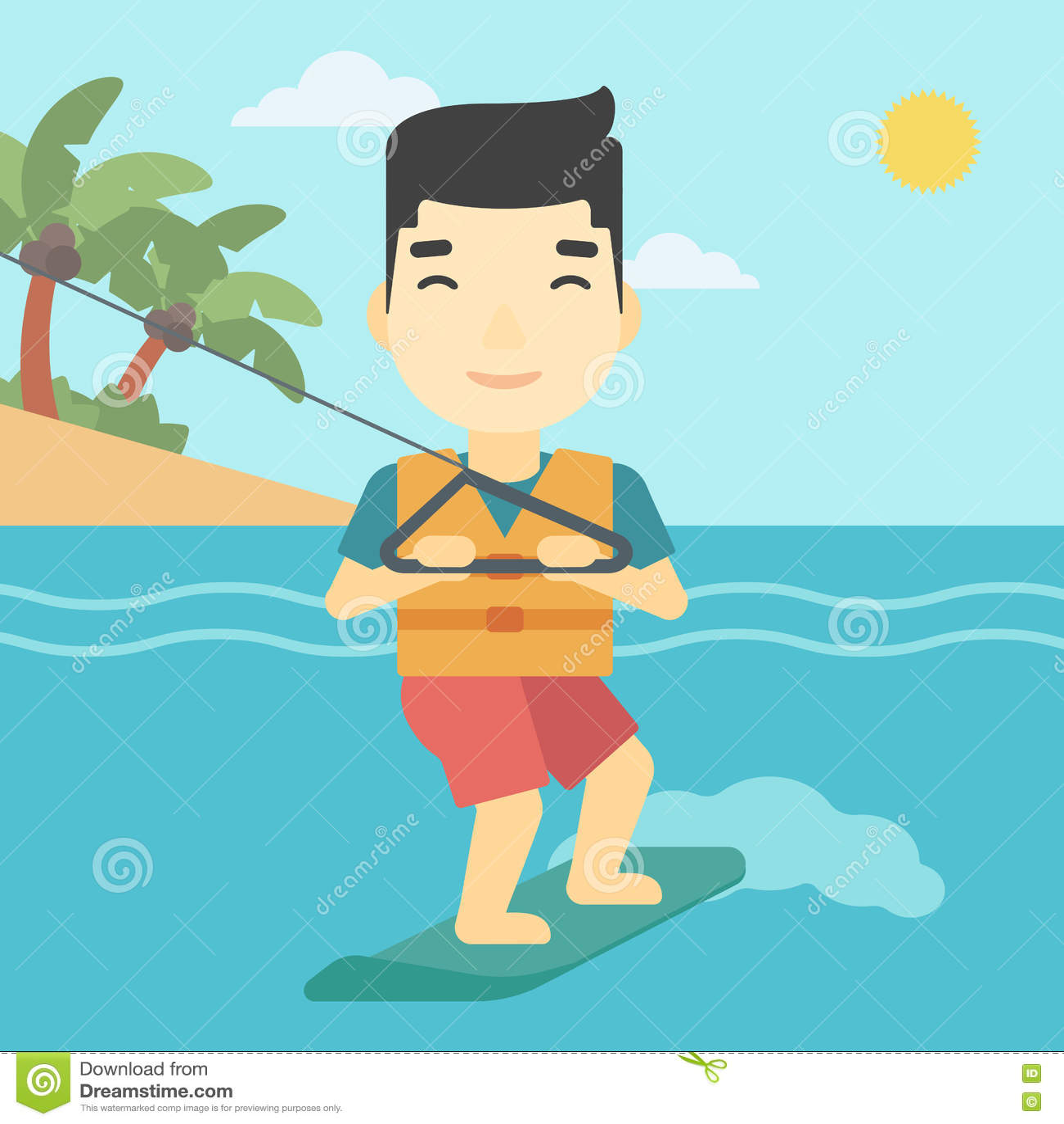 Desportista profissional do wakeboard