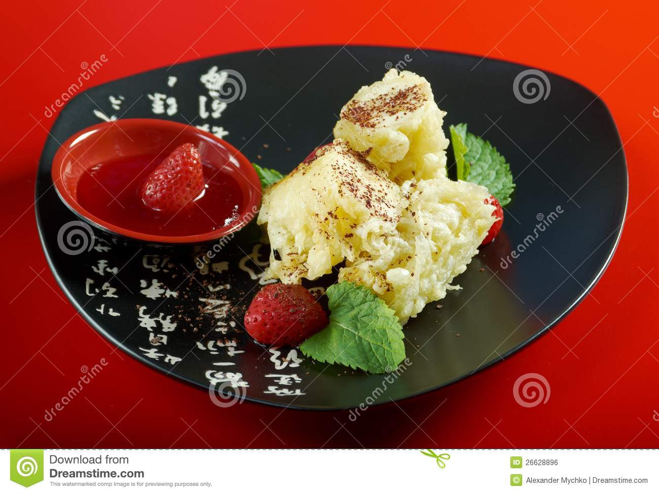 Dessert with banana for Asian cuisine dessert