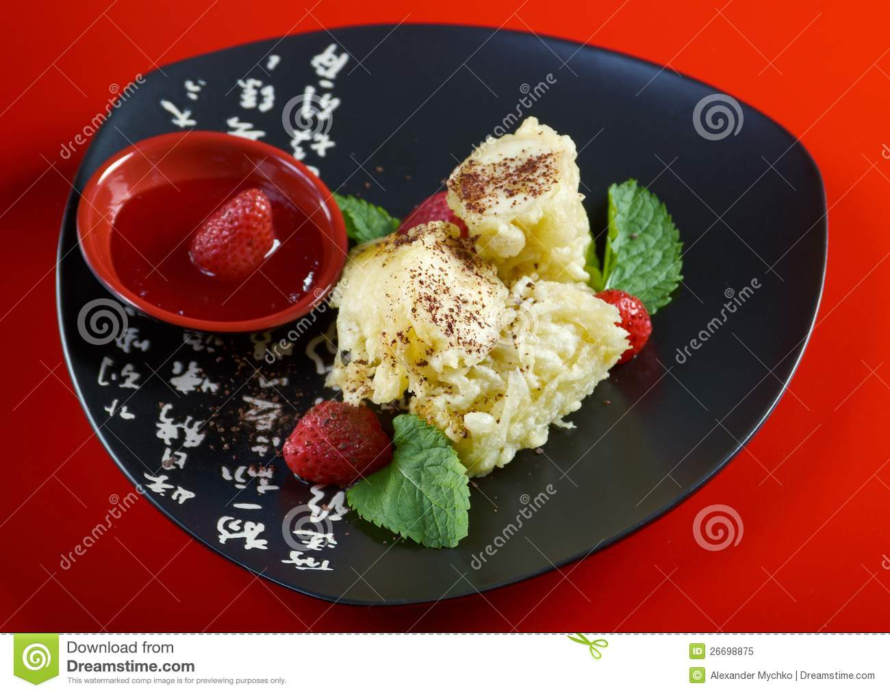 Dessert with banana royalty free stock photo image for Asian cuisine dessert