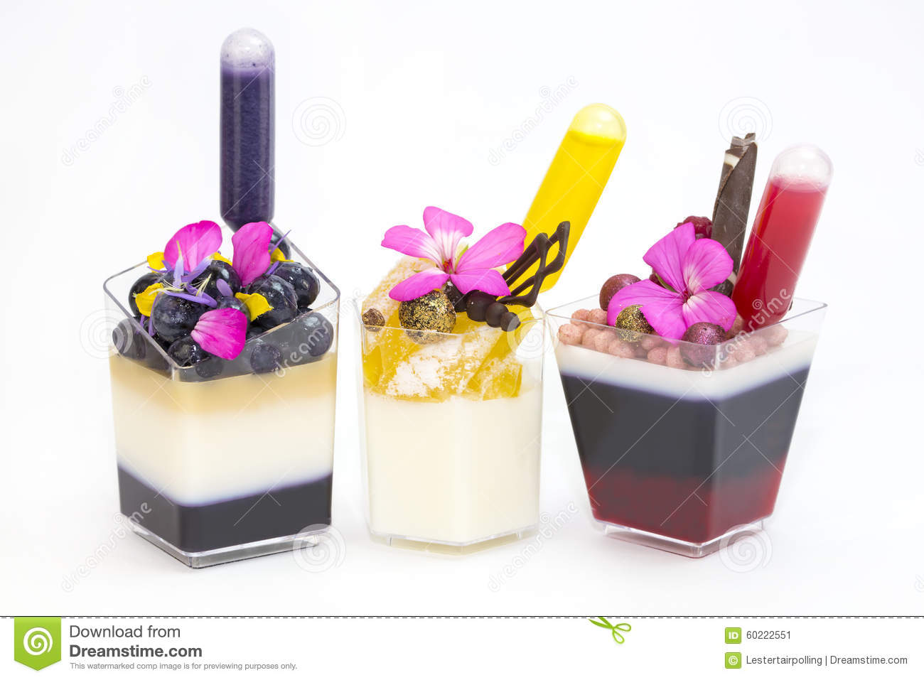 Dessert canapes stock photo image 60222551 for Canape desserts