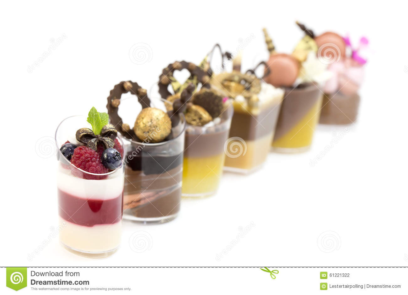 Dessert canapes stock photo image 61221322 for Canape desserts