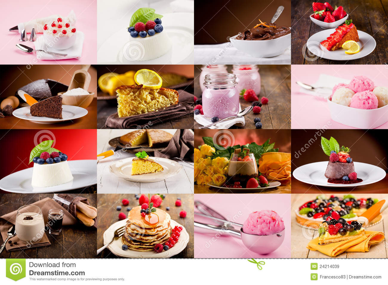 Dessert Collage Royalty Free Stock Images - Image: 24214039