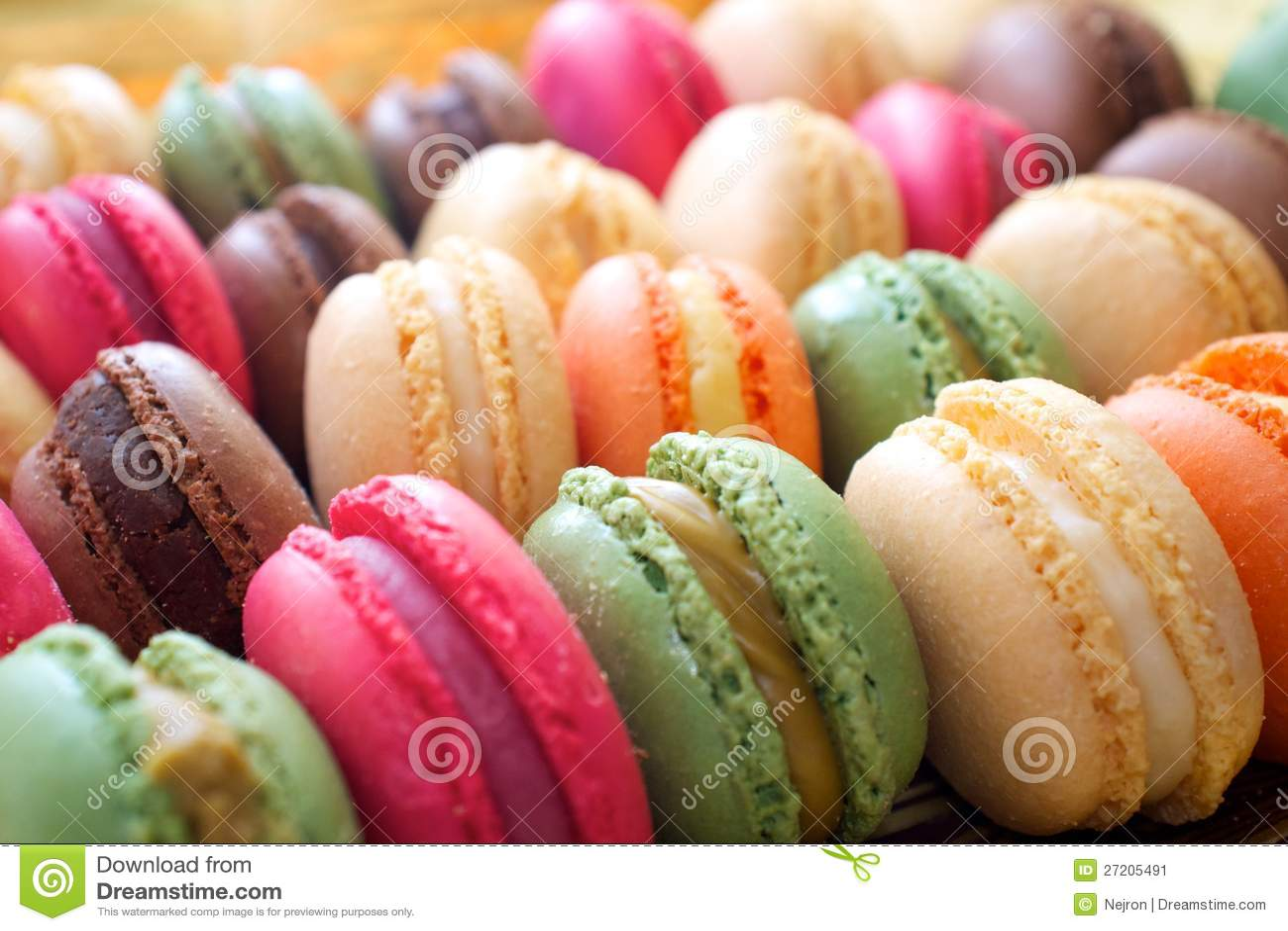 Dessert coloré