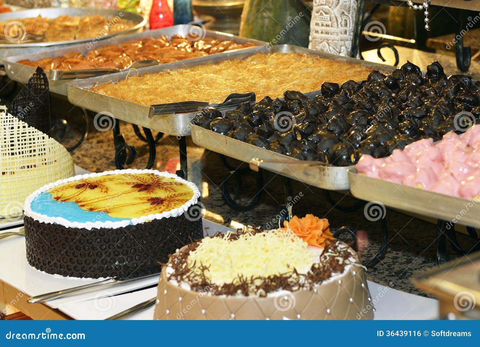 Dessert Corner Buffet Stock Photo Image Of Menu Party 36439116