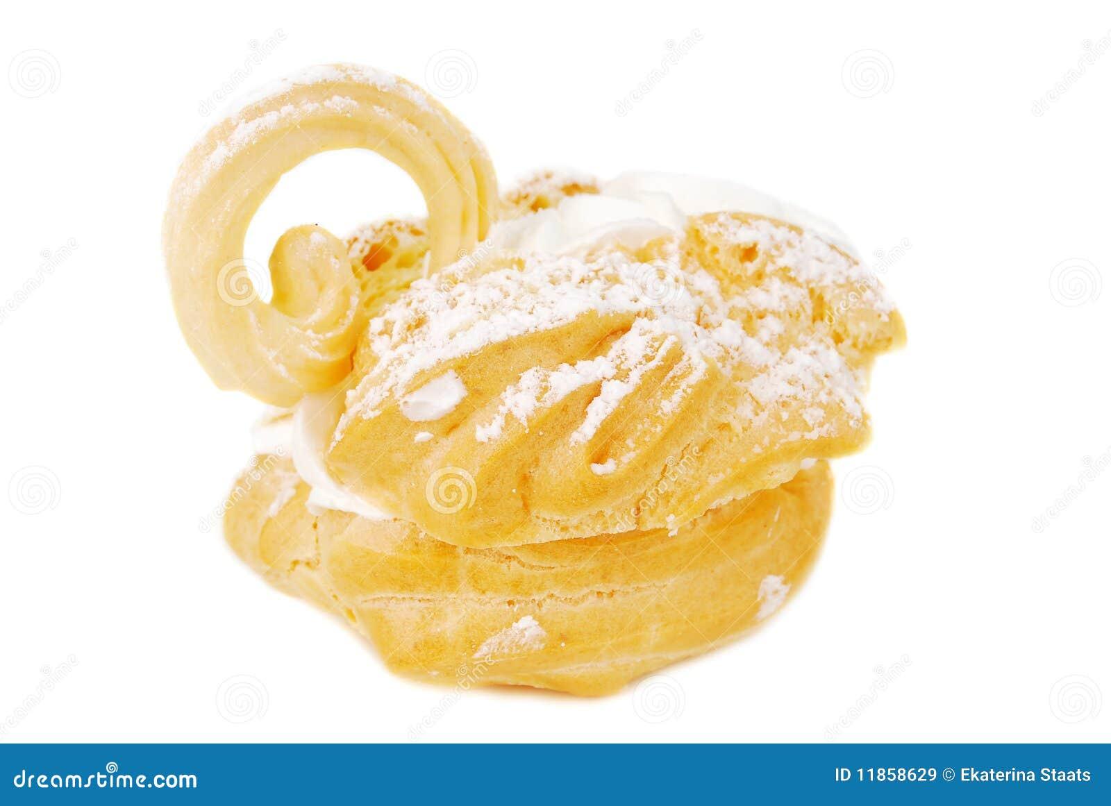 Dessert de cygne d Eclair.