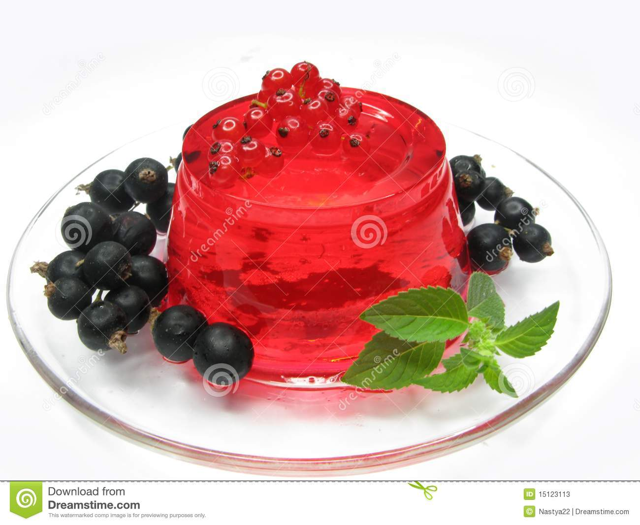 dessert de gel 233 e de fruit avec la groseille photos stock image 15123113