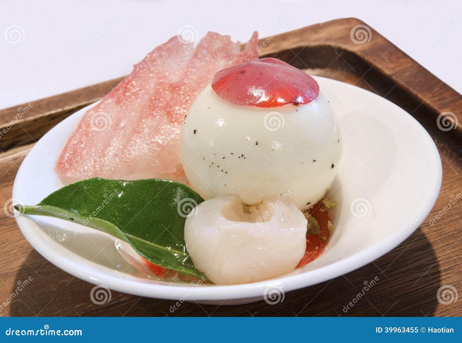 dessert de litchi image stock image du dessert cuisine 39963455. Black Bedroom Furniture Sets. Home Design Ideas