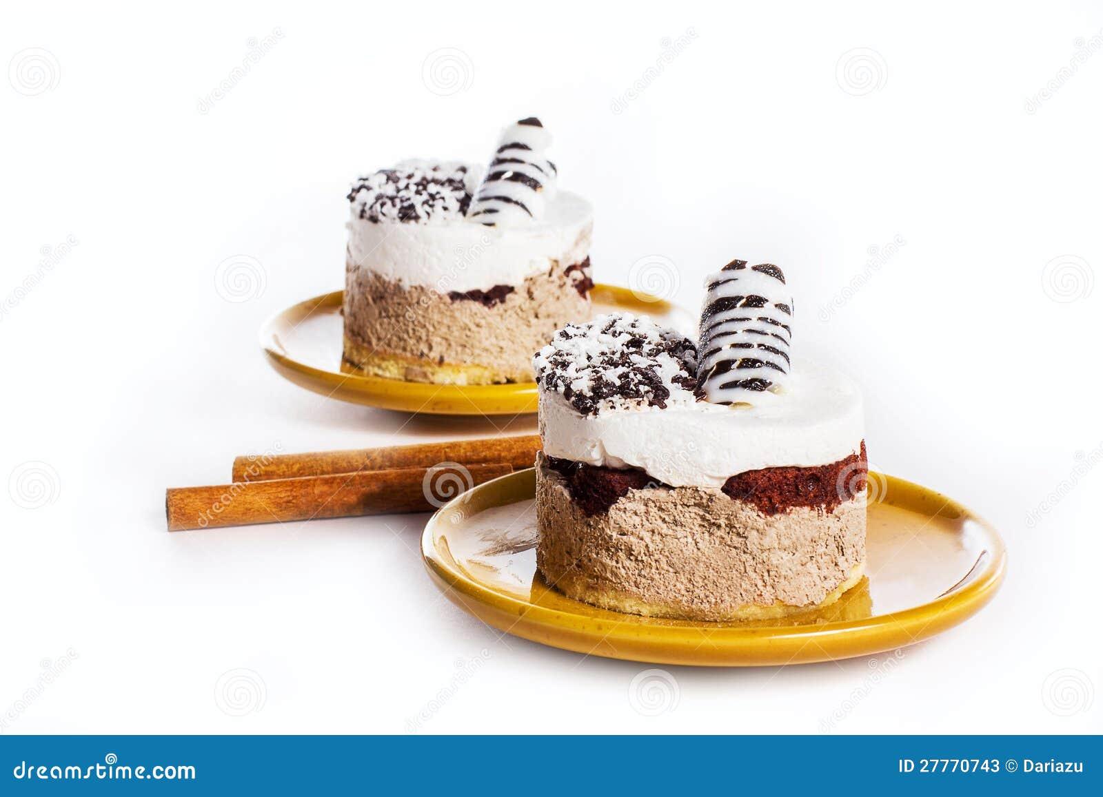 Dessert de luxe de la plaque ronde