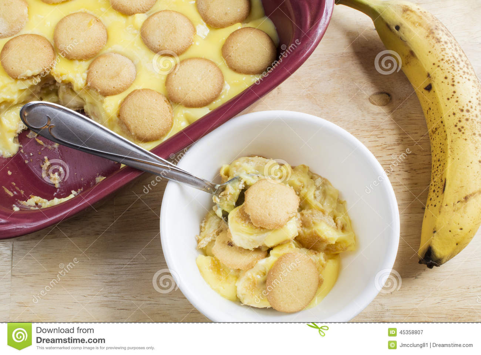 Dessert de pudding de banane