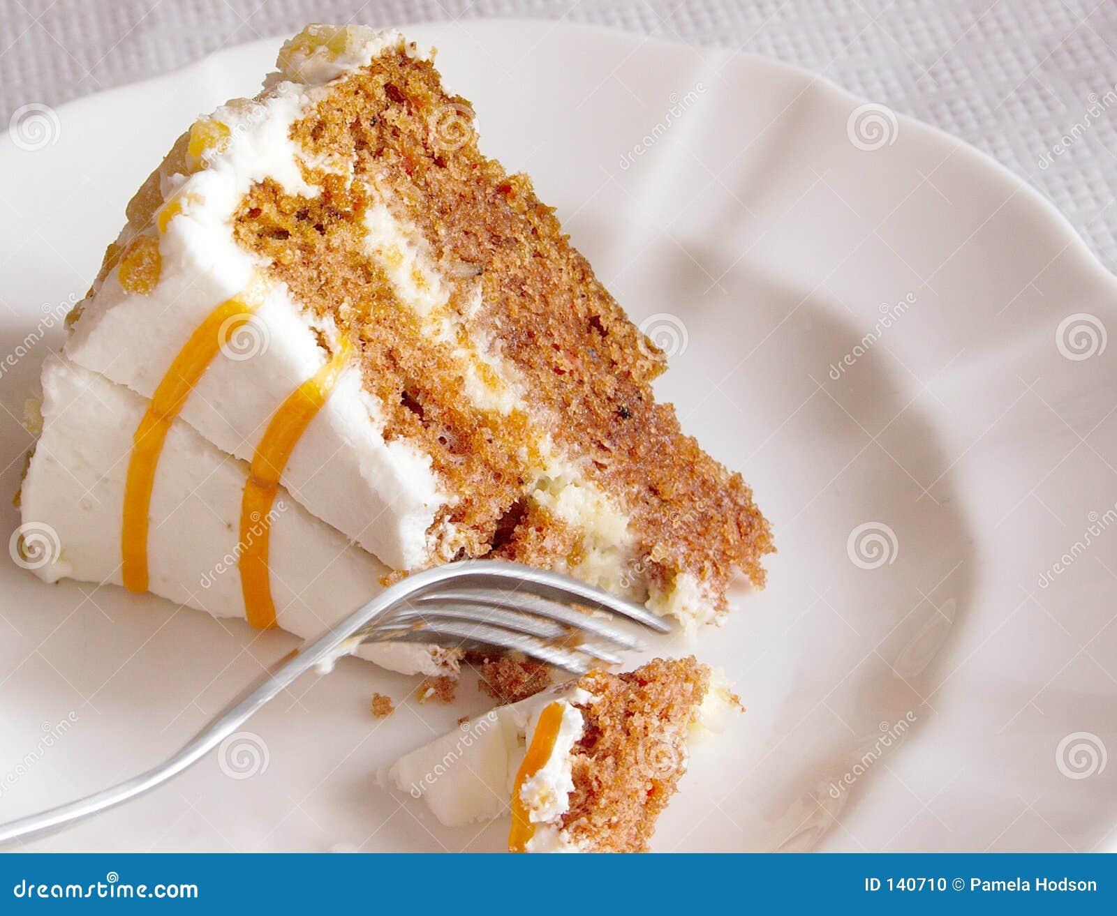 Dessert della torta di carota