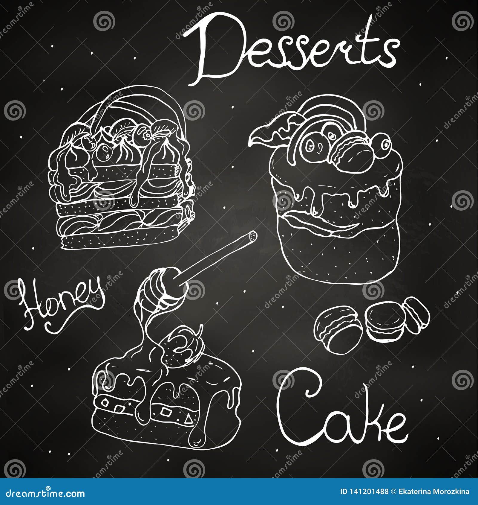 Dessert, fruit on a stick in chocolate.illustration,
